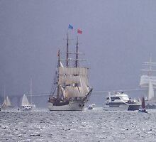 Sailing in the Rain by Graeme  Hyde