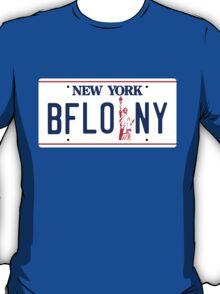 Buffalo New York Liberty license plate T-Shirt