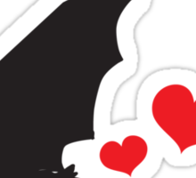 Bat farts Hearts Sticker