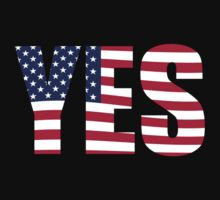 YES American flag by jazzydevil