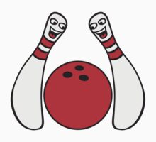 2 Cheeky Comic Bowling Pins by Style-O-Mat