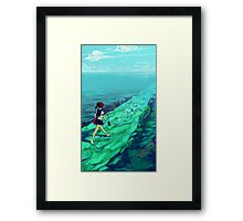 Ocean Path Framed Print