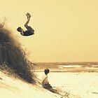 Monets back flip by Trish Threlfall