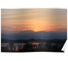 Sunset over Monte Rosa Poster
