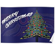 Merry Christmas - Aboriginal Dots Poster