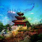Chinese Watercolor Comboda by Linda Miller Gesualdo