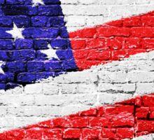 American Flag Urban Art Sticker