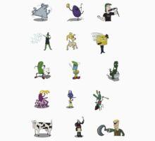 Random Weirdos #2 - Mini Sticker Set [15 count] by vigorousjammer