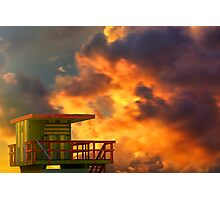 Miami Beach Sunset Photographic Print