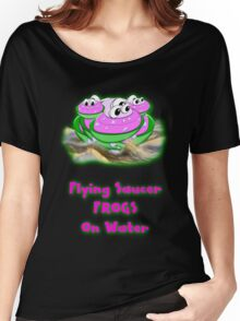 Flying Saucer Frogs on Water T-shirt Women's Relaxed Fit T-Shirt