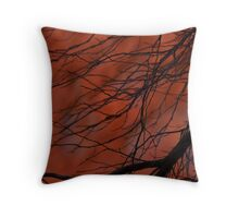 Red Centre twigs Throw Pillow