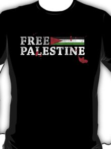 POPULAR DESIGN - FREE PALESTINE GRUNGY BLOOD T SHIRT AND CARDS T-Shirt