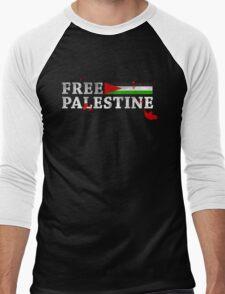 POPULAR DESIGN - FREE PALESTINE GRUNGY BLOOD T SHIRT AND CARDS Men's Baseball ¾ T-Shirt