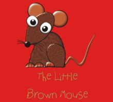 Little Brown Mouse T-shirt One Piece - Long Sleeve