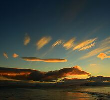 Sunset in Antarctica by Wanda Craswell