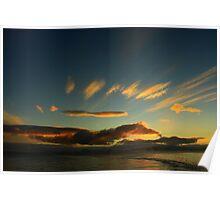 Sunset in Antarctica Poster