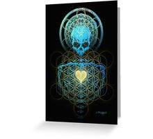 Visionary Skull  Greeting Card