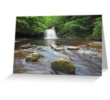 Cauldron Falls at West Burton Greeting Card