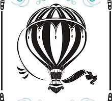 vintage hot air balloon  by torishaa