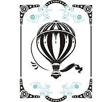 vintage hot air balloon  Photographic Print