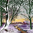 Winter Cottage by Glenn Marshall