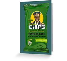 Dictator Chips Uganda Flavor Greeting Card