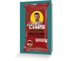 Dictator Chips Syria Flavor Greeting Card