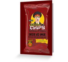 Dictator Chips Belarus Flavor Greeting Card