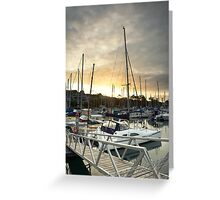 Manly Sunset Greeting Card
