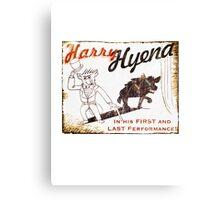 Harry Hyena Canvas Print