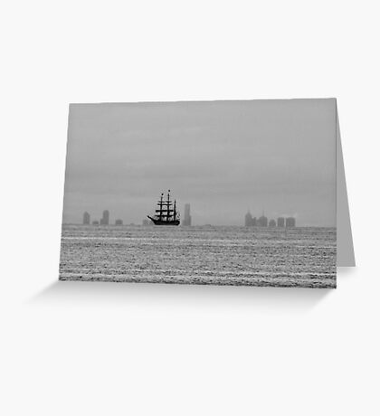 Tall Ship passes Melbourne Greeting Card