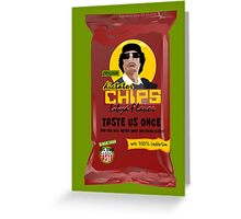 Dictator Chips Lybia Flavor Greeting Card