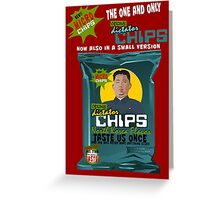 Dictator Chips: Micro Chips; North Korea Flavor Greeting Card