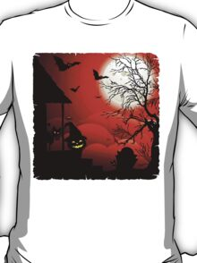 Halloween on Bloody Moonlight Nightmare T-Shirt