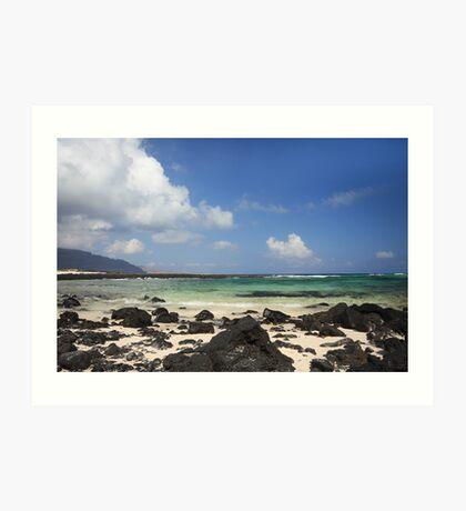 Beach in Lanzarote Art Print