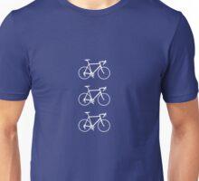 Racing Bikes (white) Unisex T-Shirt