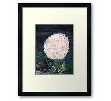WHITE SPHERE Framed Print