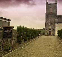 Irish Church with Moody Sky by Chris Hood