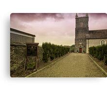 Irish Church with Moody Sky Canvas Print