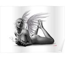 Rock Angel Pin-Up Girl Poster