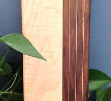 Curly Maple + Walnut Bread Board by Robert's Woodworking Studio