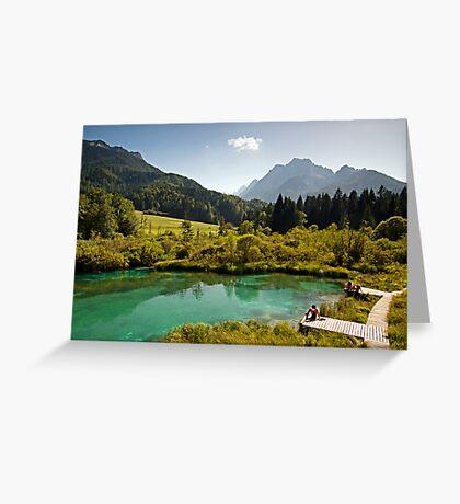 Natural Reserve Zelenci Slovenia Greeting Card