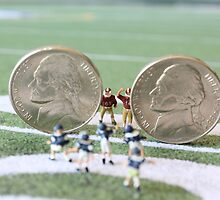 I know the coach said, 'nickel defense' but I'm pretty sure this isn't what he meant!! by Susan Littlefield