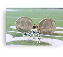 I know the coach said, 'nickel defense' but I'm pretty sure this isn't what he meant!! Canvas Print