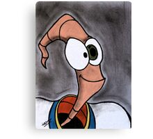 Earthworm Jim Canvas Print