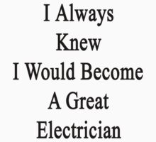 I Always Knew I Would Become A Great Electrician  by supernova23
