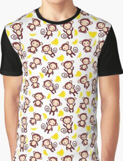 funny brown monkey  Graphic T-Shirt