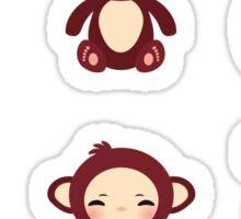 funny brown monkey  Sticker