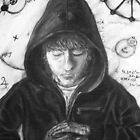Self Portrait - Study of St. Francis by Adam  Jones