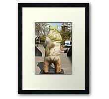 Bear Backside Framed Print
